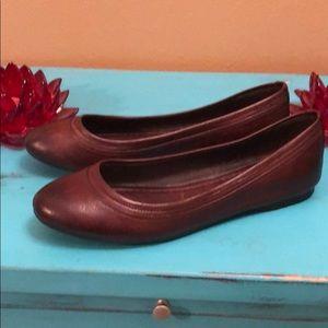 Frye Dark Brown Leather Flats